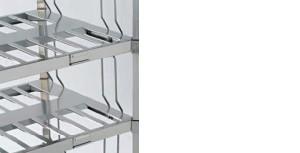 particolare piano portabottiglie-riganelli scaffalature
